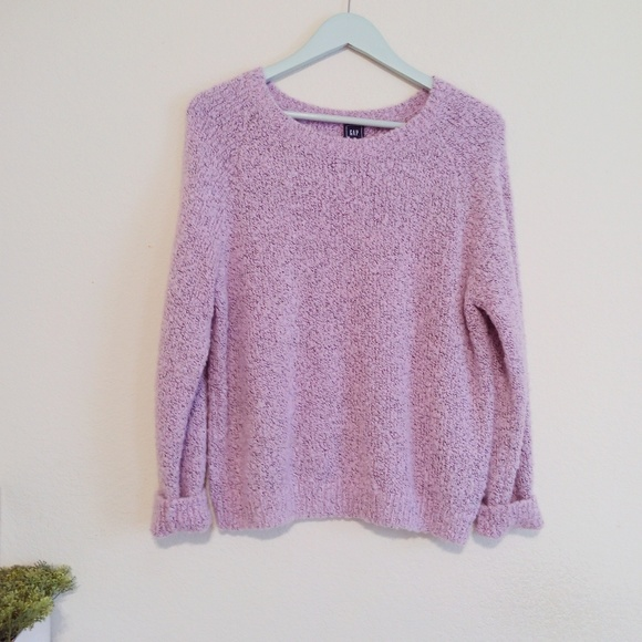 GAP Sweaters - Lilac Oversized Boucle Sweater